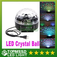 Wholesale Epacket Mini Digital LED RGB Crystal Magic Ball Effect Light DMX512 Disco DJ Stage Lighting Voice activated light lamp