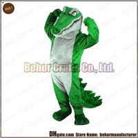 Wholesale Crocodile mascot costume high quality cheap plush Crocodile mascot cartoon set adult type we accept customized mascot