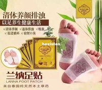Wholesale Thailand original authentic Lanna Lanna foot patch to damp dampness Tongluo wormwood health Nalan Foot Patch