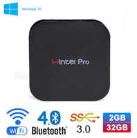 Wholesale wintel T8 Pro Mini PC Windows OS Intel GB GB Wintel W8 Pro GHz Wifi Bluetooth Windows TV Box
