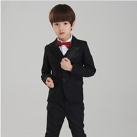 Wholesale Boy s Formal Wear The little boy fashion dresses in black boy s suit boy wedding suits Tuxedo Formal Suit Jacket Pants