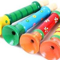 baby es - 2014 New SE Brief Baby Kid Children Wooden Toy Musical Instrument Trumpet Hooter Bugle Suona Toy ES