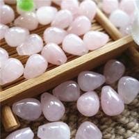 Wholesale 9 mm Natural Gemstone Rose Quartz teardrop Beads