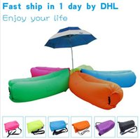 Cheap 2016 Hot Lamzac Hangout Fast Inflatable Lounger Air Sleep Camping Sofa KAISR Beach Nylon Fabric Sleeping Bag Bed Lazy Chair outdoor DHL Free