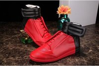 Wholesale Hot sell newest maison martin margiela shoes genuine Leather high top Men casual shoes fashion size eu