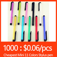 Wholesale Universal Stylus Touch Screen Pen For ipad iphone Samsung HTC capacitance touch screen Tablet PC Colors For S7 edge S6 S6 edge iPhone SE