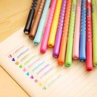 Wholesale 12 heart diamond glitter gel pen cute gel pens for kids gift School Office supplies gel pen mm