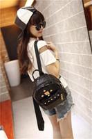 backpack fasteners - New style Crocodile leather PU bag shoulder bag rivets with slide fastener hot