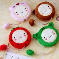Wholesale 2016 new Cute Cartoon Retractable Cloth Measure Ruler Tape Plush Sewing Tailor Tool cm inch