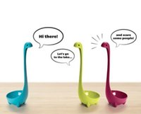 Wholesale Three Color Nessie Ladle Loch Ness Monster Serving Colander Spoon Home Kitchen New