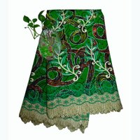 Wholesale By DHL express days arrive Women Dressing African Wax Lace Fabric bright coloured suit for high end occasions Summer Winter Spring