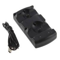 Wholesale Manette Move Navigation and Controller USB Powered Dual Charging Dock Charger Carregador For Playstation PS3
