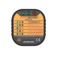 australian socket - PEAKMETER Australian Standard Socket Tester Model PM6860C Voltage Range V Tripping Current mA DIY Home Use