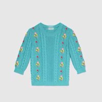 Wholesale 2016 girls classical knitting a sweater The new embroidery turtleneck sweater