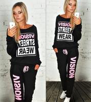 Cheap New Street Wear Print Women'S Tracksuits O-Neck Sport Suit Set Jogging Suits For Women Long Sleeve Autumn Sweatshirt+ Pants Sets