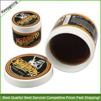 Wholesale Newest Suavecito Pomade Strong style restoring Pomade Hair wax big skeleton hair slicked back hair oil wax mud keep hair pomade men