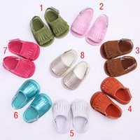 shoe sole material - New Baby Cotton material first walker shoes Tassels mocassions infant sandals soft soled shoes sandals C838