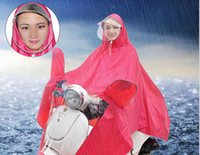 Wholesale Manufacturers selling new dual brim masks a Yupi raincoat for riding electric car motorcycle raincoat four colors