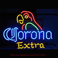 Wholesale CORONA EXTRA PARROT Neon Sign Neon Bulbs Real Glass Tube Handcrafted Beer Signs Beer Pub Eye Catch Indoor High Quality VD x14
