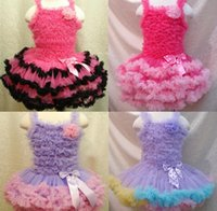 Wholesale Girls dress multicolor mosaic cake skirt dancing skirt fluffy skirts