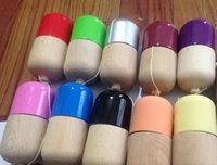 Wholesale x5CM Glossy Pill Kendama Toy Japanese Traditional Wood Game Kids Toy PU Paint Beech