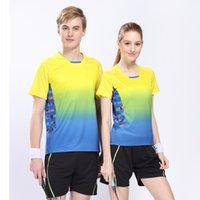 Wholesale Anti wrinkle Breathable Quick Dry Shirt Men Women Table Tennis Badminton Sportswear Ping Pong Jersey