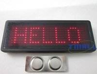 Wholesale RED LED Programmable Scrolling Name Badge Tag Message