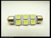 Lumières de voiture Lumières intérieures 50X 31MM 36MM 39MM 41MM Double pointu Festoon Dôme léger Lumière de lecture de voiture Lumière de plaque d'immatriculation 12V Blanc