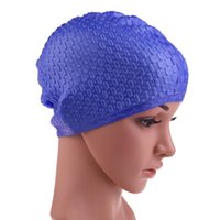 Wholesale Flexible Waterproof Silicon Swimming Cap Unisex Adult Waterdrop Swimming Hat Cover Protect Ear Multicolor BHU2 fashion