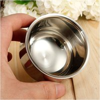 best double bowl - High Quality Professional Double Layer Shave Shaving brush Stainless steel bowl soap mugs bowls cups For Best Men Gift Barber Tool Face Care