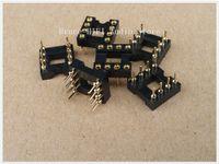 Wholesale 6PCS Nextron gold plated DIP8 Opamp IC sockets Adaptor Solder Type pin mm DIP8
