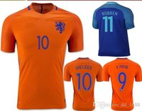 Wholesale DHL EMS Dutch football clothin soccer shirts netherlands robbens sneijders v persies Soccer jerseys shirt