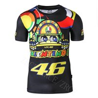 bicycle t shirts - Valentino Rossi VR46 GP T shirt Motocross Racing Motorcycle Bicycle Motor QUICK DRY Straitjacket Short sleeve Tee T shirt