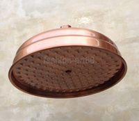 Wholesale 8 quot inch Vintage Red Copper Antique Brass Round Shape Bath Rainfall Shower head Bathroom Accessory Standard quot ash054