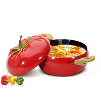 Wholesale 2016 Hot Vegetables Modeling Non Stick Pot Lovely Style Tomato Pot Cookware Kitchen Cooking Pot Soup