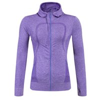 Wholesale Autumn Winter Women s Sports Yoga Fittness Hoodies Running Cycling Elastic Breathable Windproof Women s Quick Dry Clothes