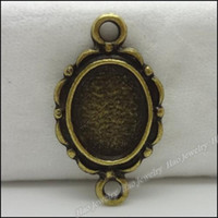 antique metal picture frames - 100 Vintage Charms Picture frame Pendant Antique bronze Fit Bracelets Necklace DIY Metal Jewelry Making