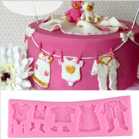 baby clothesline - Baby Clothes Clothesline Shape Silicone Cake Mold Chocolate Mold Fondant Cake Decorating Tool WA1386