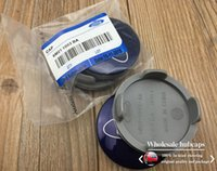 Wholesale 20pcs mm Blue Car Wheel Hub Center Cover Caps Emblem Logo Badge For Ford Fiesta Focus Fusion Mondeo Escap M211003AA