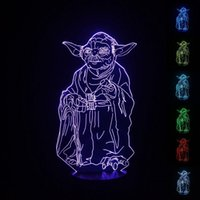amazing optical - SmartEra Master Yoda USB Powered Colors Amazing Optical Illusion D Glow LED Lamp Art Sculpture Lights Produces Unique Lighting Effects