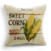 Wholesale 45CM Cushion Cover Pillow Case Throw Home Sofa Decorative Vegetables Sweet Corn