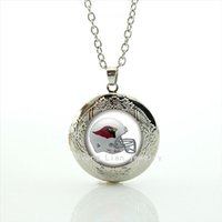 arizona silver jewelry - The fashion and cute birds helmet locket necklace Arizona Cardinals team Newest mix sport jewelry for children and kid NF158