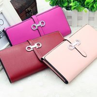 Wholesale 2016 High Quality Fashion Candy Color Women Wallets PU Leather Long Ladies Luxury Purse Women s Designer Wallets Famous Brand Clutch Wallet