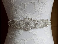 Wholesale Luxuries Rhinestone Handmade Bridal Sashes Belts Beaded Sewl Bridal Accessories Elegant Vintage New Summer