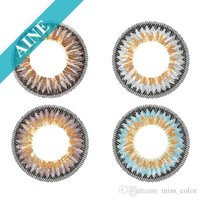 Wholesale Aine Big Eye Color contact lenses yearly disposable circle lenses ready stock