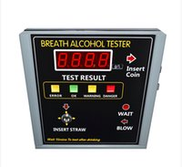 Wholesale 2017 New Professional Coin Operated Alcohol Tester Breathalyzer Machine for Bar Restaurant Hotel in Russia AT