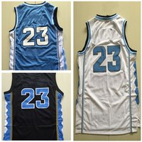 Wholesale North UNC Throwback Rev Basketball Blue White jersey Best quality Embroidery Logos Size S XXL