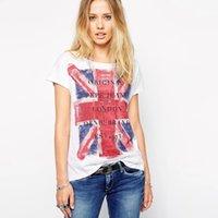 american flag shirts womens - Summer Europe style T Shirt Women T shirt American England Flag batwing short sleeve womens tops tee shirt femme casual
