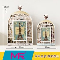 mounted photo frames - 7 inch photo frame EU birdcage design rectangle ABS eco friendly material picture frame can be wall mounted home decoration