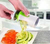 Wholesale Vegetable Spiralizer Newest Premium Safety Blade Design Handheld Compact Veggie Spiral Slicer